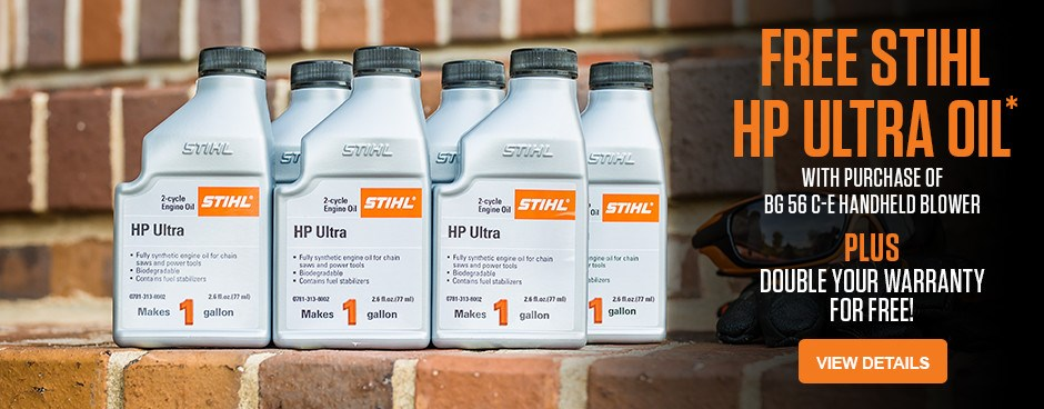 Free STIHL HP Ultra Oil with BG 56 C-E Blower purchase